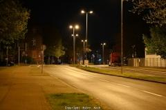 01.05.2021, Herne, Ausgangssperre in Herne. Bild: Leere Straßen in Herne. Aufgrund der Corona-Pandemie galt eine Ausgangssperre in der Zeit von 22 Uhr bis 5 Uhr. - Foto: Björn Koch